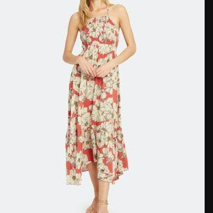 NWT Free People Heat Wave Maxi Dress Floral Red